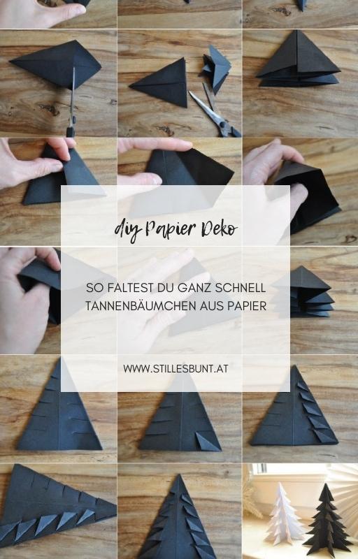 Papier Tannen gefaltet DIY