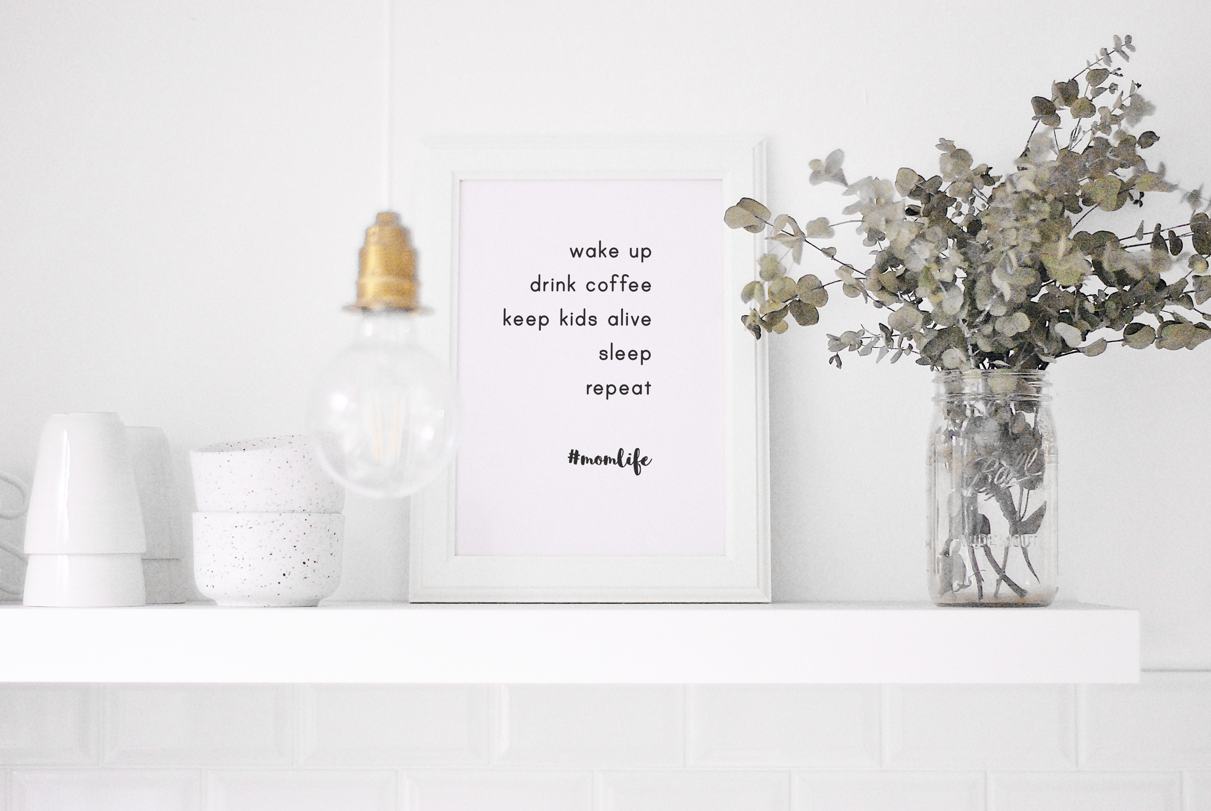 momlife poster motivational quote