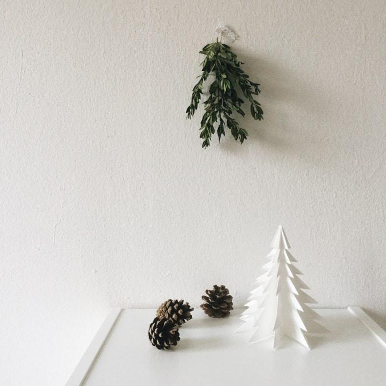 Origami Christbaum DIY Deko