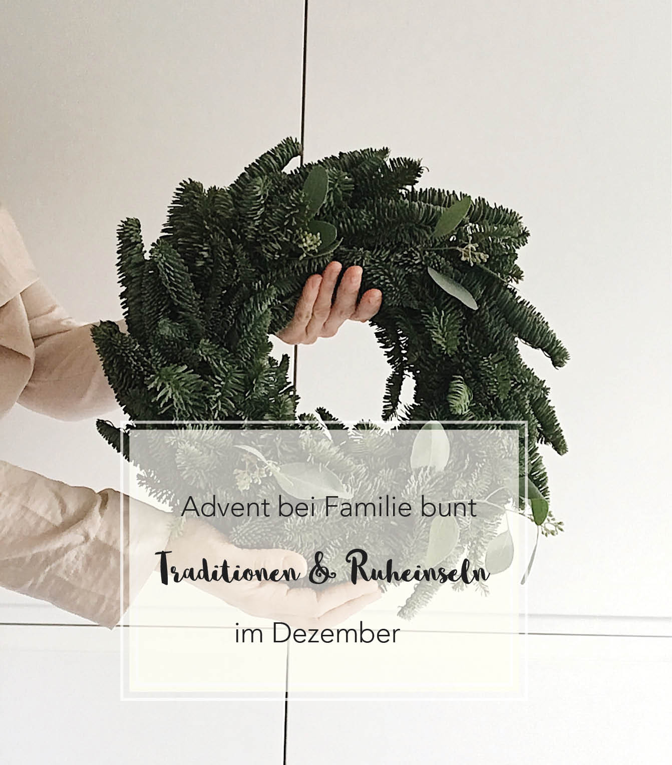 Advent bei Familie bunt Titelbild