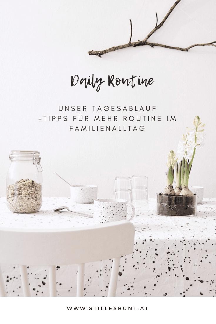 daily routine unser Tagesablauf und Tipps für mehr Routine im Familienalltag