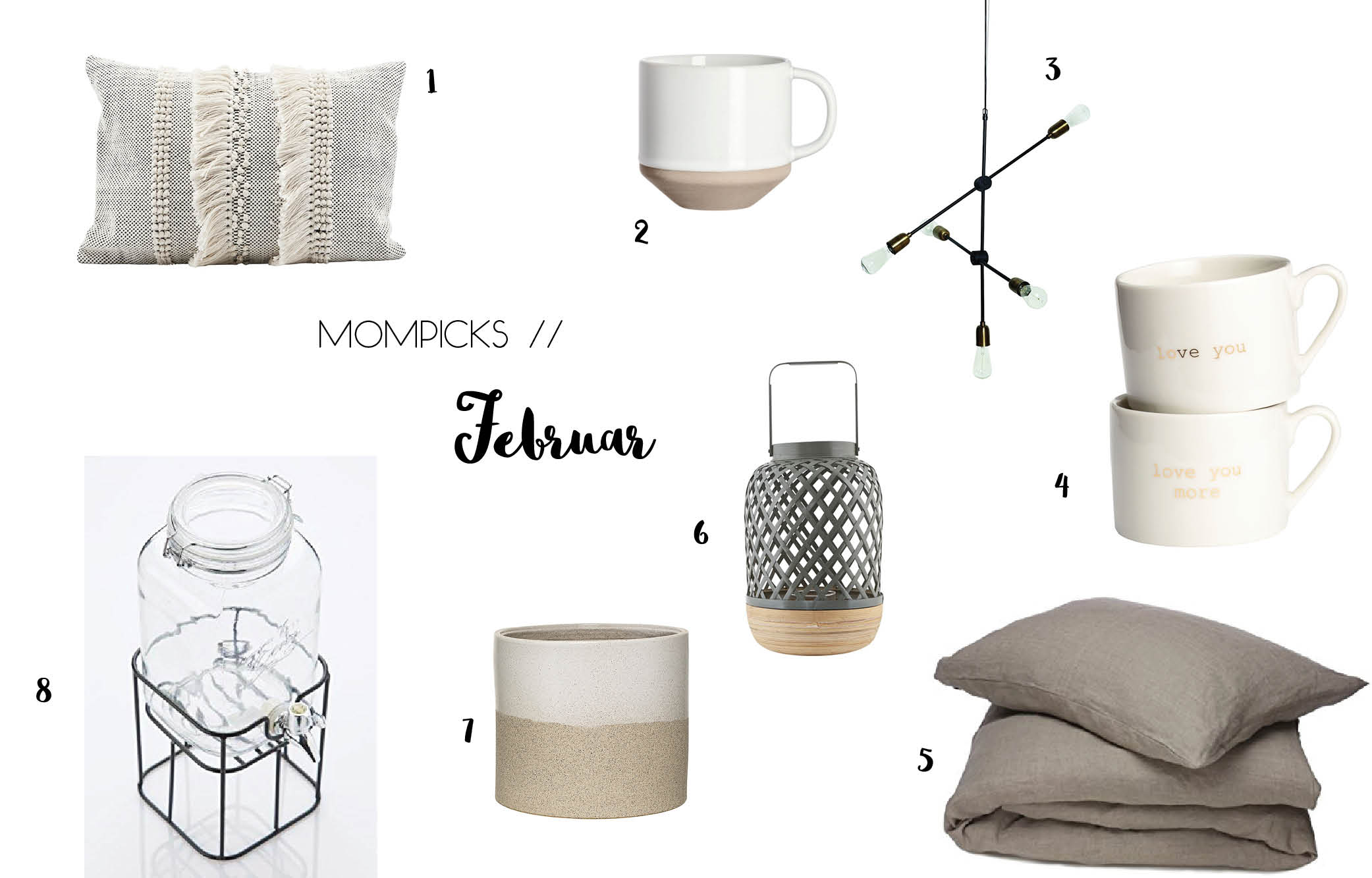 Mompicks Februar, Shoppingtipps, Wishlist, Interior Decor
