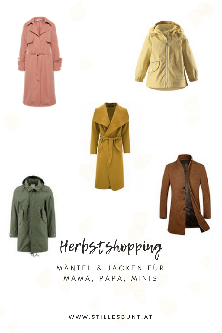 Shopping Tipps Herbstmäntel Familie
