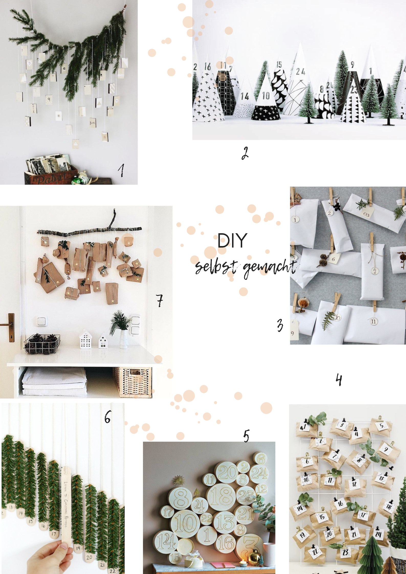 DIY Adventskalender selbst gemacht, schlicht, minimalistisch, einfach