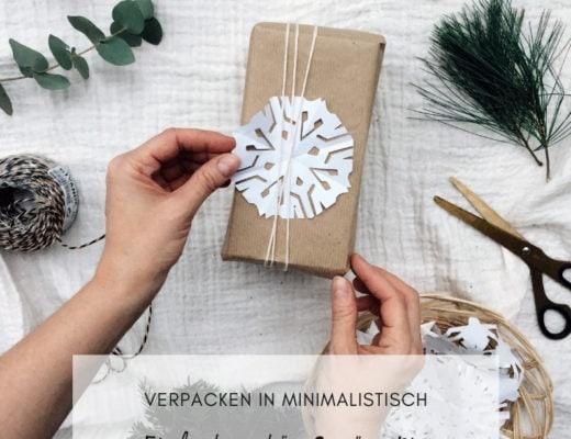 Flatlay Weihnachtspäckchen