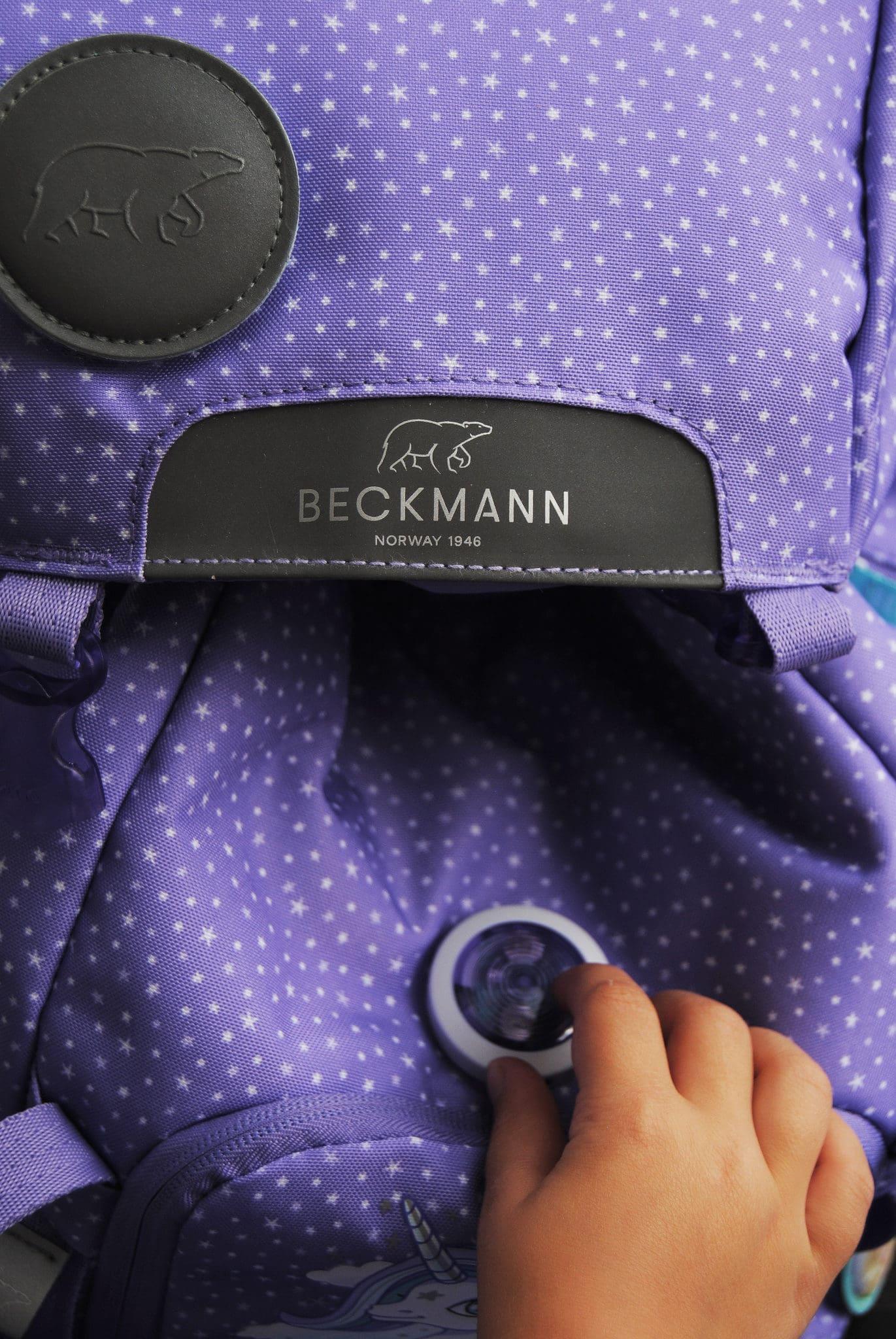 Beckmann Schulrucksack Blinklicht