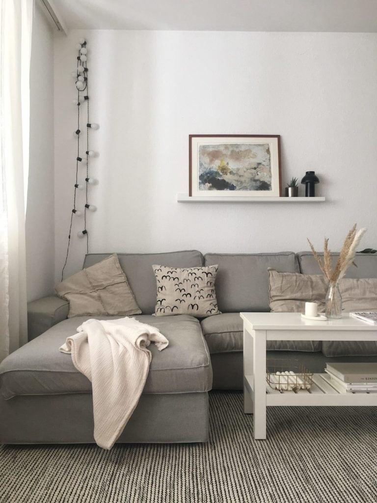 Wohnzimmer Herbst Deko skandinavisch