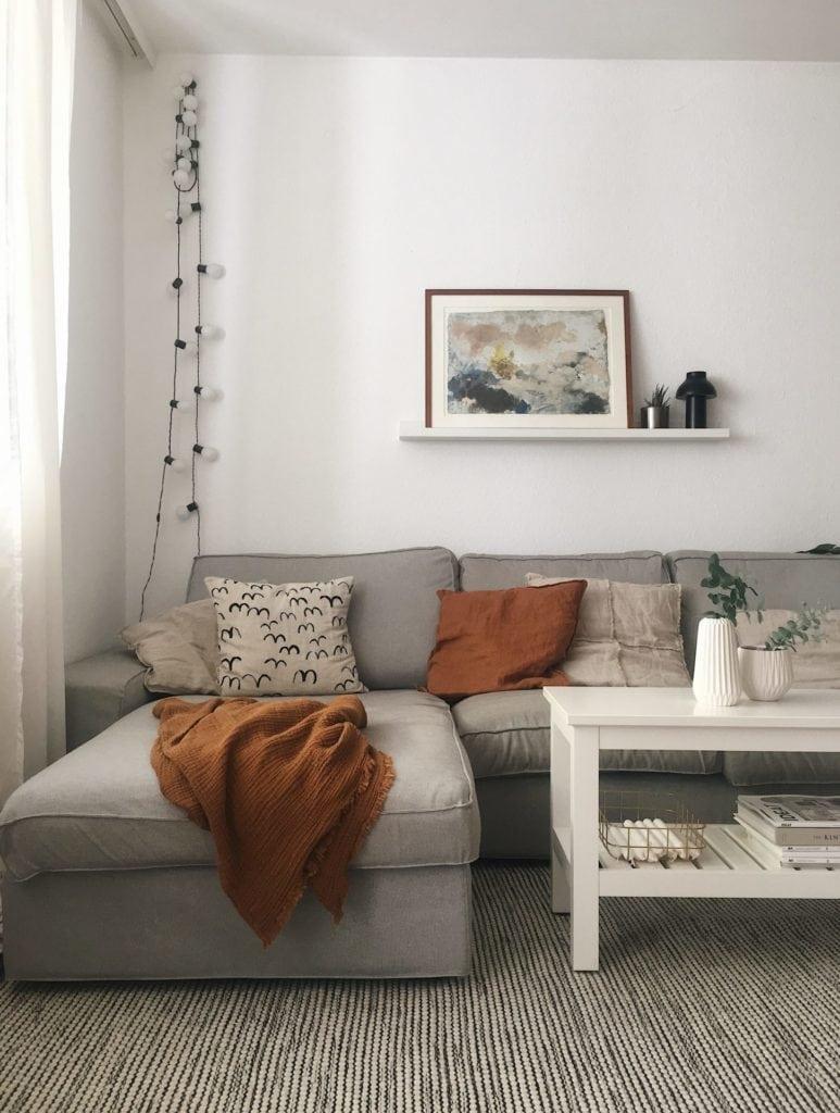 Wohnzimmer Deko herbstlich Eukalyptus