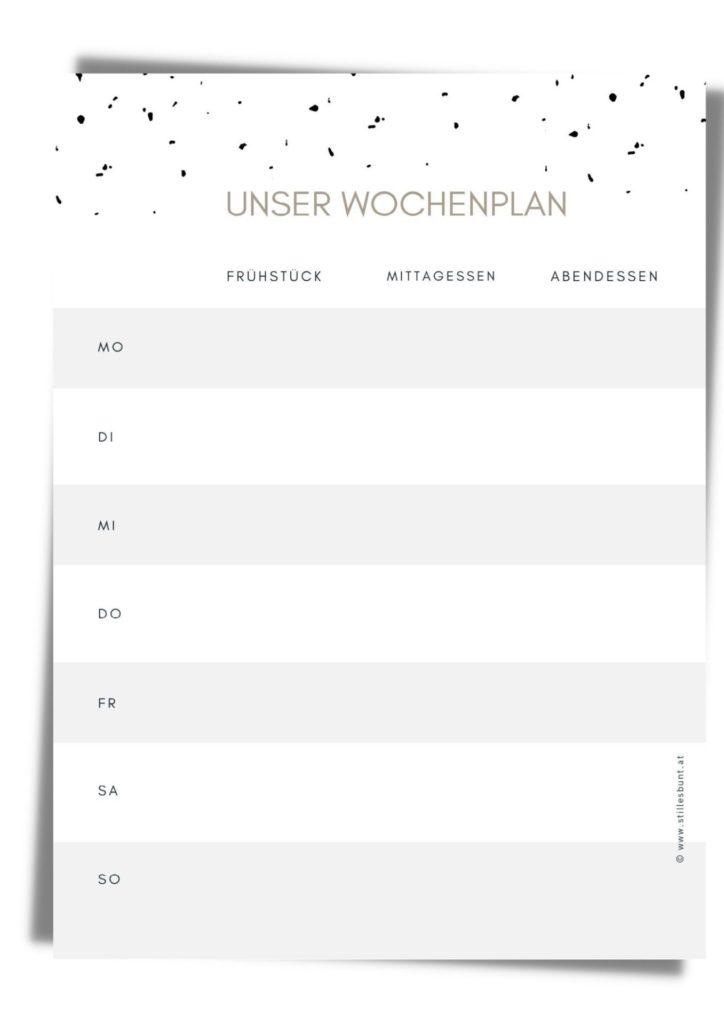 Wochenessplan
